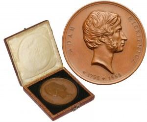 Medal Sprowadzenie zwłok Mickiewicza na Wawel 1890