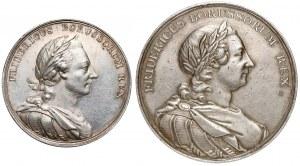 Fryderyk II Wielki, Medale I rozbiór Polski 1772, zestaw (2 typy)