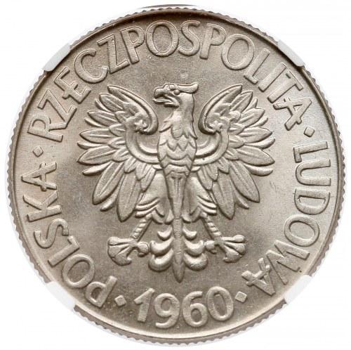 10 złotych 1960 Kościuszko - NGC MS66 (MAX)