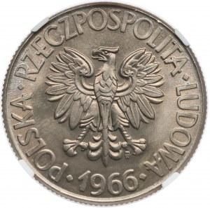 10 złotych 1966 Kościuszko - NGC MS66