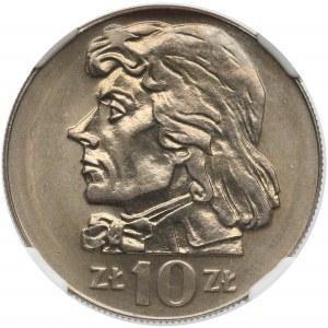 10 złotych 1972 Kościuszko - NGC MS66
