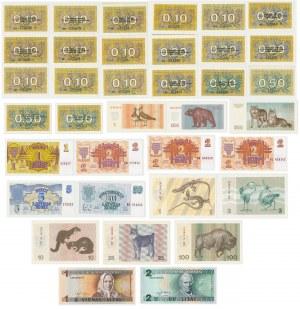 Litwa i Łotwa - zestaw banknotów z lat 1991-1994 (36szt)