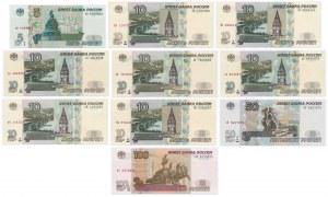 Rosja, 5-100 rubli 1997 - zestaw (10szt)