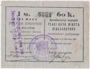 Ex. Siedlecki, Białystok, 1 Mk = 60 kop 1915