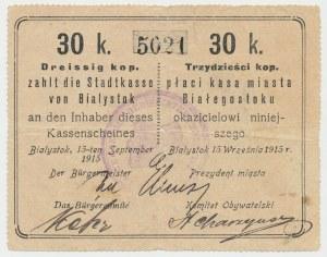 Ex. Siedlecki, Białystok, 30 kopiejek 1915