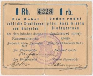 Ex. Siedlecki, Białystok, 1 rubel 1915