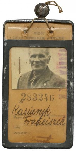 Bilet miesięczny - dwuliniowy, Czerwiec 1948, Warszawa