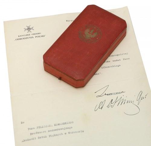 Order Odrodzenia Polski IV klasy - nadanie 1936 dla prof. KOWARSKIEGO (ASP)