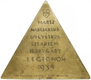 Marsz Narciarski Szlakiem Brygady Legionów 1934 - PLAKIETA - dar od PZN