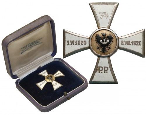Odznaka 74 Górnośląski Pułk Piechoty - w oryginalnym pudełku Nagalskiego