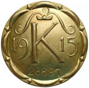 Odznaka z Legitymacją uprawniająca do pobytu w Twierdzy Kraków 1915 r.