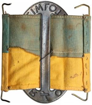 Fragment opaski Obrony Przeciwlotniczej wraz z odznaką L.O.P.P.