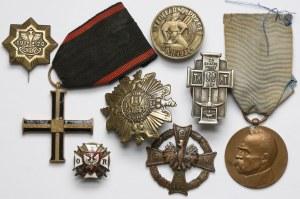 Zestaw odznaczeń i odznak II RP (8szt)