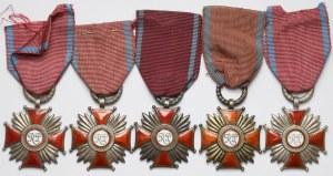 Krzyże Zasługi 1946-1952 - zestaw srebrnych (5szt)