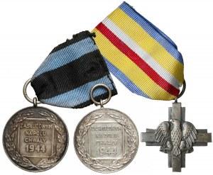 Zasłużonym na Polu Chwały (2) i Krzyż Bitwy pod Lenino - zestaw (3szt)