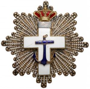 Hiszpania, Gwiazda Orderu Zasługi Morskiej Kl.IV (1870-1925), Biały