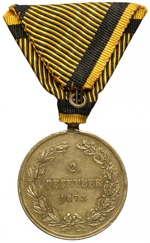 Austro-Węgry, Medal Wojenny 1873 - OESTERREICH KOENIG - rzadkość