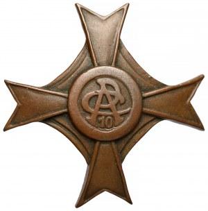 Odznaka 10 Kaniowski Pułk Artylerii Ciężkiej (tombak)
