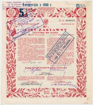 Bank Gospodarstwa Krajowego, List zastawny 50 zł 1925