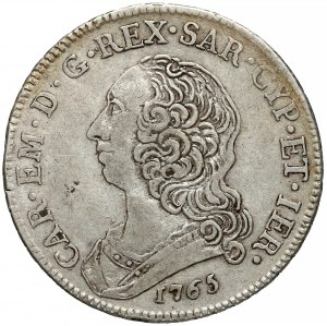 Włochy, Sardynia, 1/2 scudo 1765