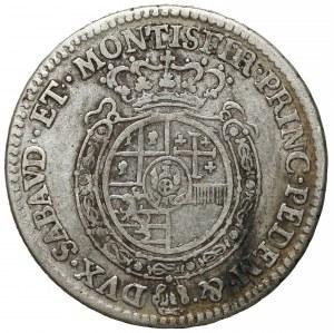 Włochy, Sardynia, 1/4 scudo 1763