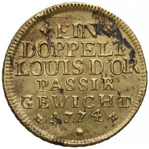 Niemcy, Brunszwik-Wolfenbüttel, Odważnik wagi podwójnego Louis D'ora 1774