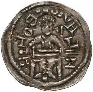 Bolesław IV Kędzierzawy, Denar - Relikwiarz - napis przeciwnie