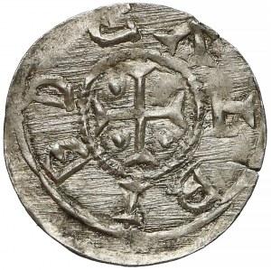 Bolesław III Krzywousty, Denar - biskup i rycerz