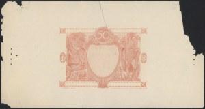Próba kolorystyczna warstwy głównej awersu 50 złotych 1925