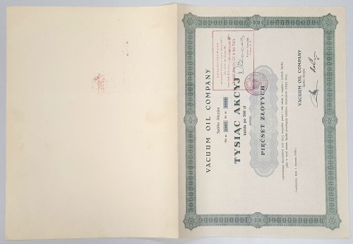 VACUUM OIL COMPANY, 1.000x 500 zł 1930