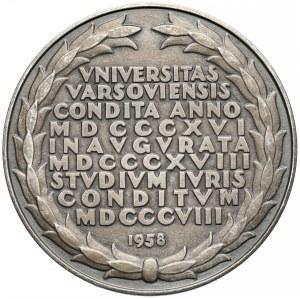 Medal Universitas Varsoviensis 1958 - brąz bielony