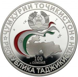 Tadżykistan, 100 somoni 2011, 20 lat Wspólnoty Niepodległych Państw