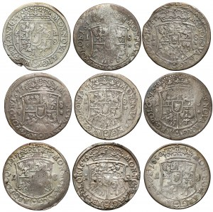Jan III Sobieski, Orty Bydgoszcz 1677-1680, zbiorek (9szt)