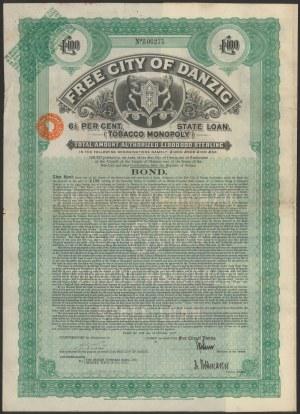 Gdańsk Tobacco Monopoly, 100 funtów 1927