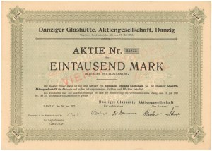 Gdańsk Glashutte..., 1.000 mk 1922