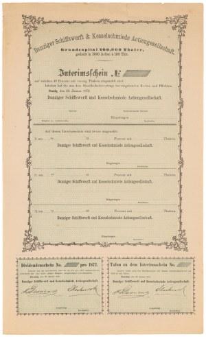 Gdańsk Schiffswerft & Kesselschmiede AG, 1872 - blankiet
