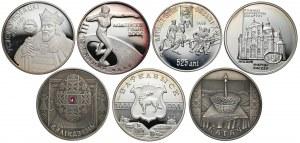 Białoruś, 20 rubli 2003-05 + Mołdawia 100 lei 2000 (7szt)