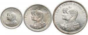Portugalia 200, 500 i 1000 reis 1898 set (3szt)