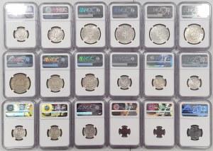 MIX monet II RP w gradingu NGC (18szt)