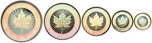 Kanada, Elżbieta II, 1-5 dolarów 2003 hologram, komplet (5szt)