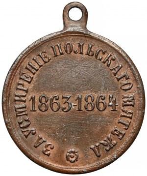 Rosja, Aleksander II, Medal za stłumienie Powstania Styczniowego 1864