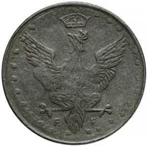 Królestwo Polskie, FALSYFIKAT z epoki w CYNKU 20 fenigów 1918