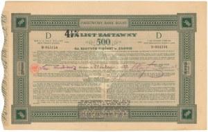 Państwowy Bank Rolny, List zastawny 7% na 4.5% 500 zł 1929