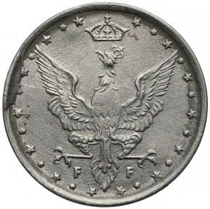 DESTRUKT Królestwo Polskie, 10 fenigów 1917 - zdwojenie + inne