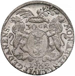 August III Sas, Złotówka Gdańsk 1762 REOE - przepiękna