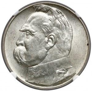 Piłsudski 10 złotych 1938 - NGC AU58