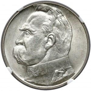 Piłsudski 10 złotych 1938 - NGC MS61