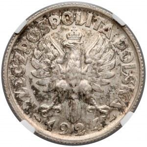 Kobieta i kłosy 2 złote 1924 Paryż - NGC UNC