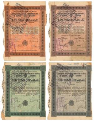 Częstochowa, TKM, Listy zastawne - zestaw 4 szt.