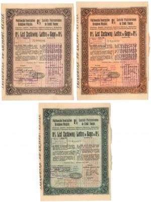 Piotrków, TKM, Listy zastawne 1927 - zestaw (3szt)
